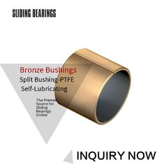 MSO2 Bushing Bearings, Bronze Backed PTFE Layer,High Quality, Ptfe supplier