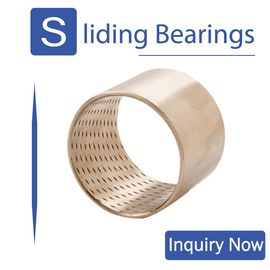 Bronze Bearings Made of CuSn8 with Lubrication Indents Plain Cylindrical Bearings Flanged Bearings Grease Reservoirs supplier