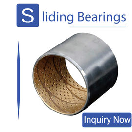 Wrapped Aluminium Steel Shaft Bimetal Bearing Bushes Tin - Plated AlSn20Cu supplier
