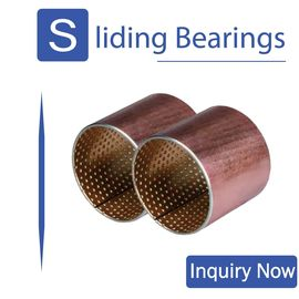 Bimetal Bushing 800 Throttle Lever & Valve Bimetal Bearing Bushes Tin Bronze Lead Alloy With Antifrication Overlay supplier