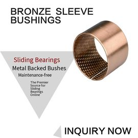Tin Bronze DIN CuSn8 Flange Sleeve Bushings DIN ISO/3547,High Quality supplier