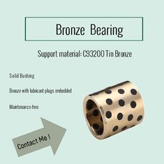CuAl10Ni C95500 Bronze Bearings One-Stop, graphite plugged, china supplier