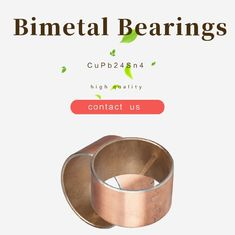 Thin Walled Design Bimetal Steel Backed Flange Bearing Bushes For Excavator Arm & Wheel supplier