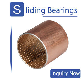 JF800 Bimetal Bearing Bushes CuPb10Sn10 Or CuSn6Zn6Pb3 For Engine supplier