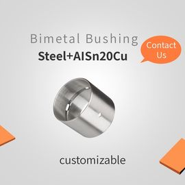 Steel + AISn20Cu Customizable Bimetal Bearing Bushes , Composite Bearings supplier