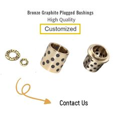 Self Lubrication Bronze Graphite Plugged Bushings Metric Size For Sliding Plate supplier