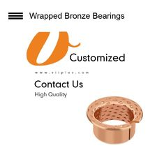CuSn8 & CuSn6.5 Bronze Bearings Material | Flange Cylindrical Bushes Type