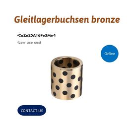 Gleitlagerbuchsen Bronze Alloy Bronze Gleitlager Bushing With Graphite Inserted supplier