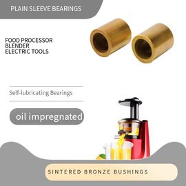 ISO 9001 Passed Plain Sleeve Bearing Food Processor Blender Bushings supplier