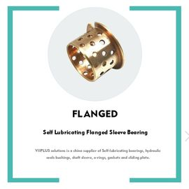 Self Lubricating Flanged Sleeve Bearing | Bronze High Temperature Resistance 092 Holes Bushings supplier