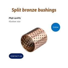 Diamond Oil & Sphercial Oil Split Bronze Sleeve Bushings , Self Lubricating Bush supplier