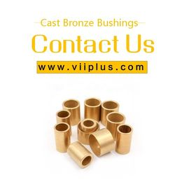 Tin Bronze Bush Bearing Bronze SAE 660 Solid Lubricant Casting