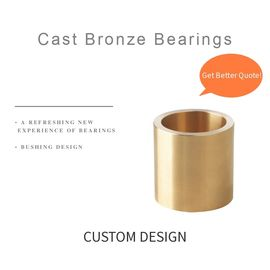 Oilless Bronze Groove Self Lubricating Bushing For Injection Molding , Die Casting supplier
