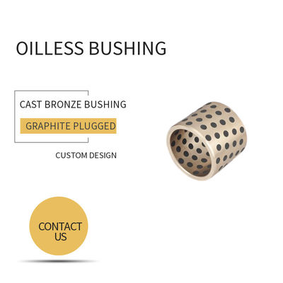 Custom Machined Self Lubricating Plain Bearing / Cast Bronze Bushings