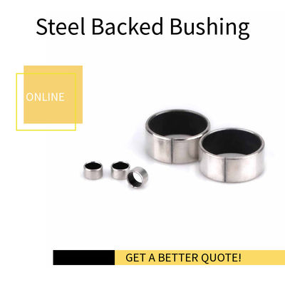 ROHS Straight & Steel PTFE Sleeve Bushings Flange Bearing Lead Free Washer LBM Tolerance