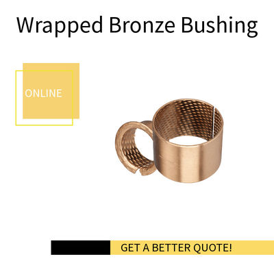 Rolled Bronze Bushing with Diamond Indents |  Metric Sleeve material CuSn8 & CuSn6.5P
