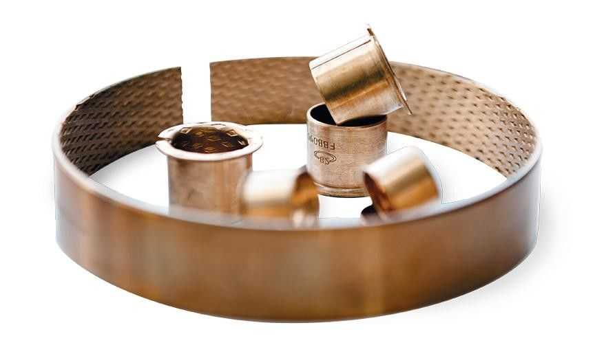 Rolled Bronze Bushing with Diamond Indents |  Metric Sleeves material CuSn8 and CuSn6.5P supplier
