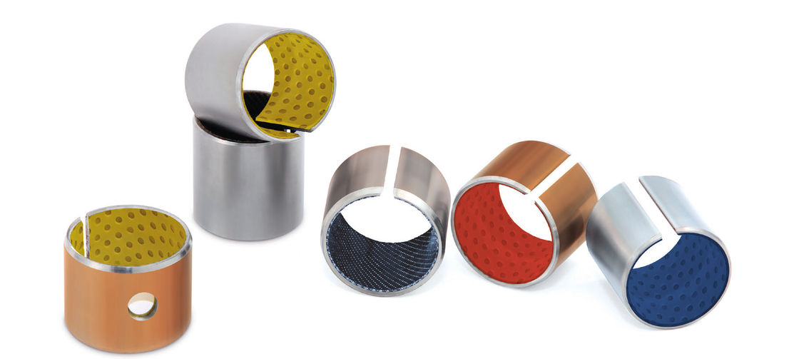 Boundary Lubricating Bushings | Rolled Dry Sliding Bearings Flanged Plain Bearing Standard Dimensions supplier