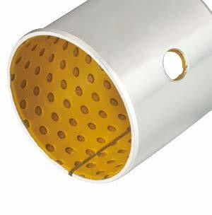 Plain Bearings Metal Polymer | Copper Flanged Sleeve Technology - DX POM Bushings supplier