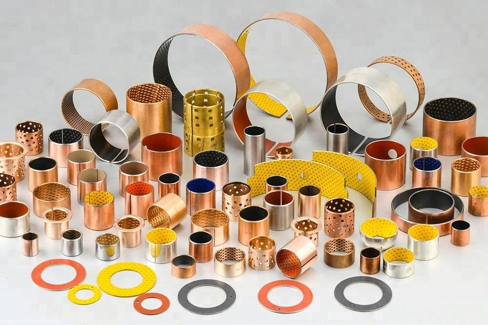 Low Resistance Hydraulic Cylinder Parts Valve Bushing , Self Lubricating Bearings supplier