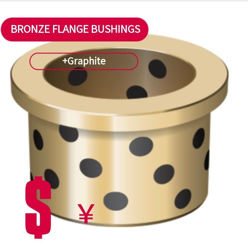 C86300 Bronze Bushing & Wear Plate Flanged Bronze Bushings High Temperature Resistance supplier