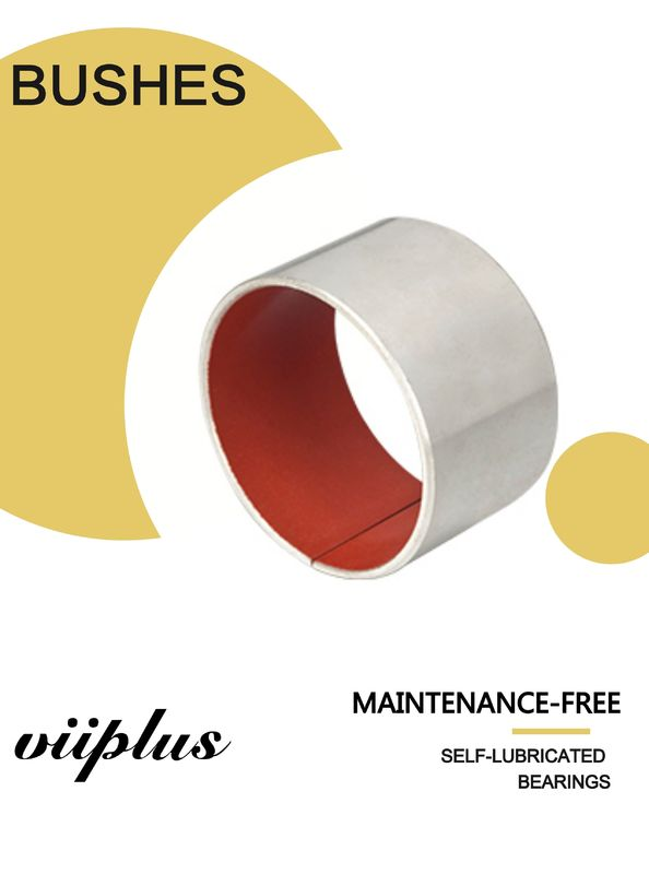 Low Friction Metal Polymer Red PTFE Composite Bearings Sleeve Bushings supplier