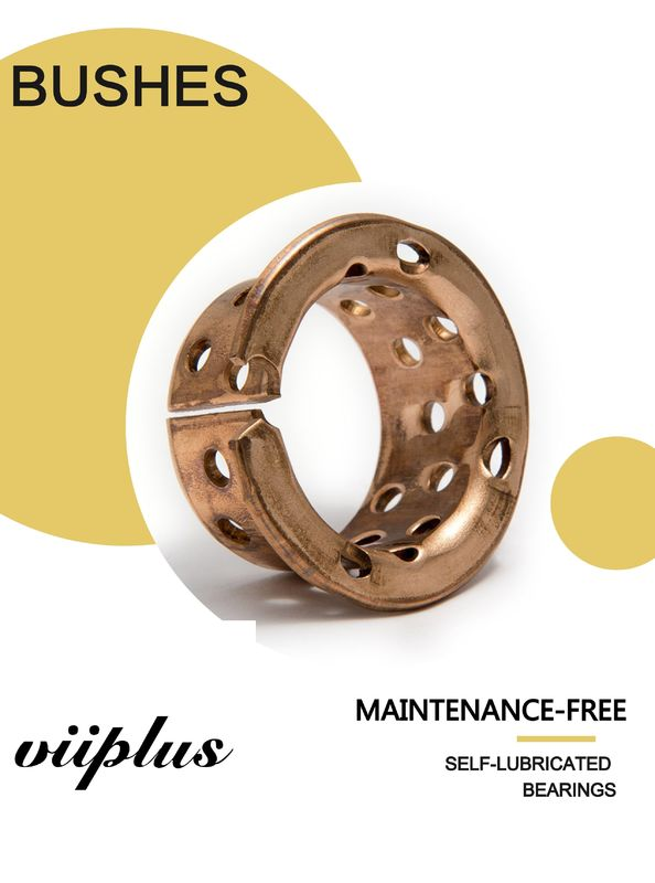 Oilless Self Lubricating Plain Bearing Bronze Sleeve Bearings 090 & 092 with holes for Mining machinery supplier