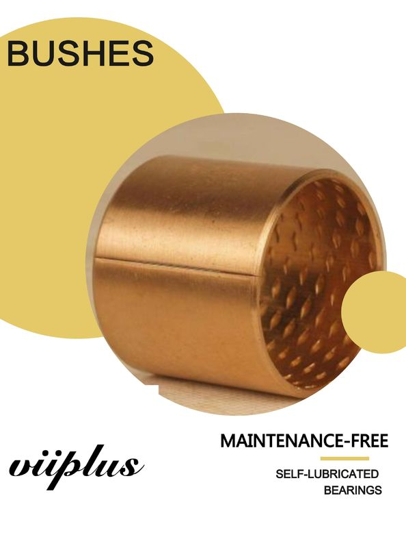 Multi-lubrication friction bearing in rolled CuSn8 bronze Sliding bush for Hydraulics supplier