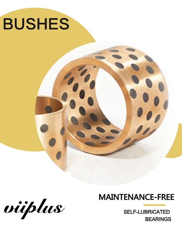 C86300 SAE430B Manganese Bronze Bushings Sliding Bearings Oil Less Graphite Plugged supplier