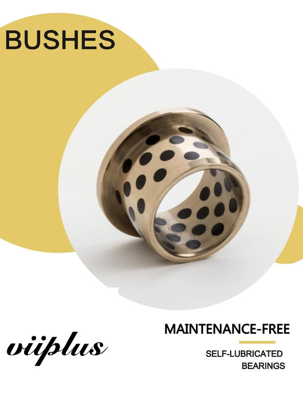 C86300 Slide Bearing Sturned Bronze & Flanged Bushing Solid Lubricant Embedded supplier