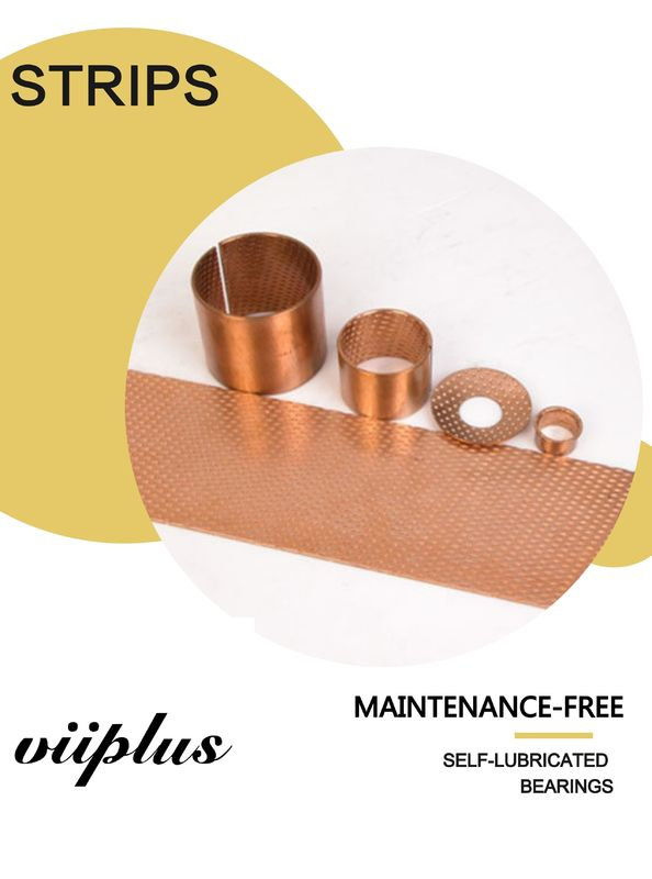 Cylindrical Bronze Bushes Diamond Self Lubrication Bearings Material Strips supplier
