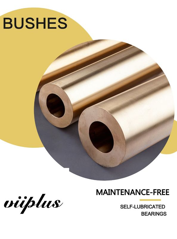 Cast Bronze Bushes Material Self Lubricating Bronze Bushings / Bearing Low - Maintenance supplier