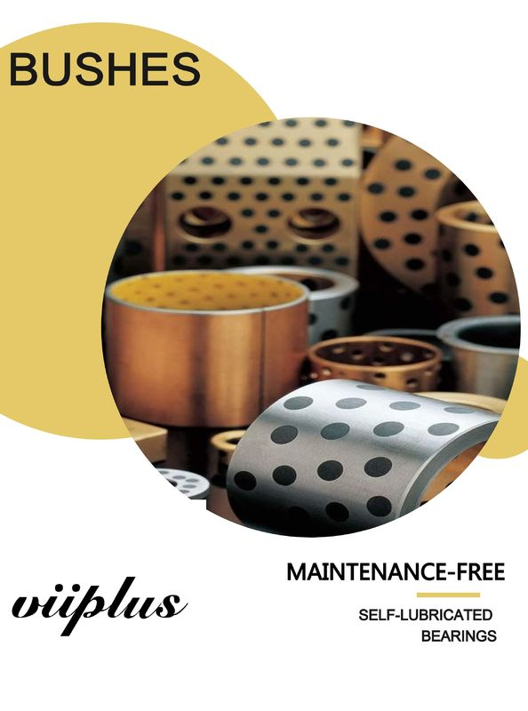 Tin Bronze EN Casting Copper Alloy Bearings CuSn12 Sleeve & Flange Bushings For Hydraulic Components supplier