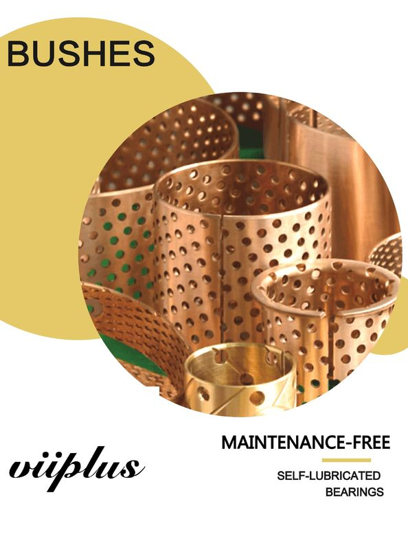 Rolled Tin Bronze Perforated Bushings | CuSn8 Sliding Bushing Oil Perforations supplier