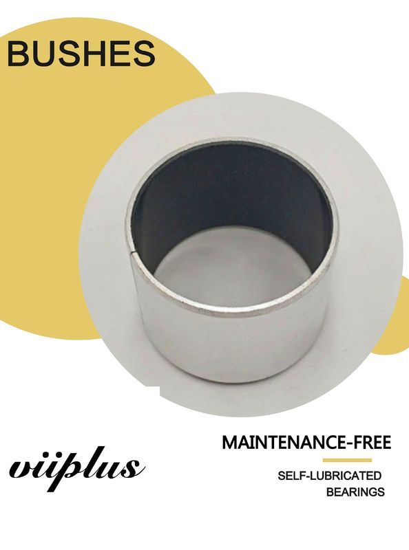PTFE Bronze Split Bushing Steel Backed Metric Sleeve Diameter
