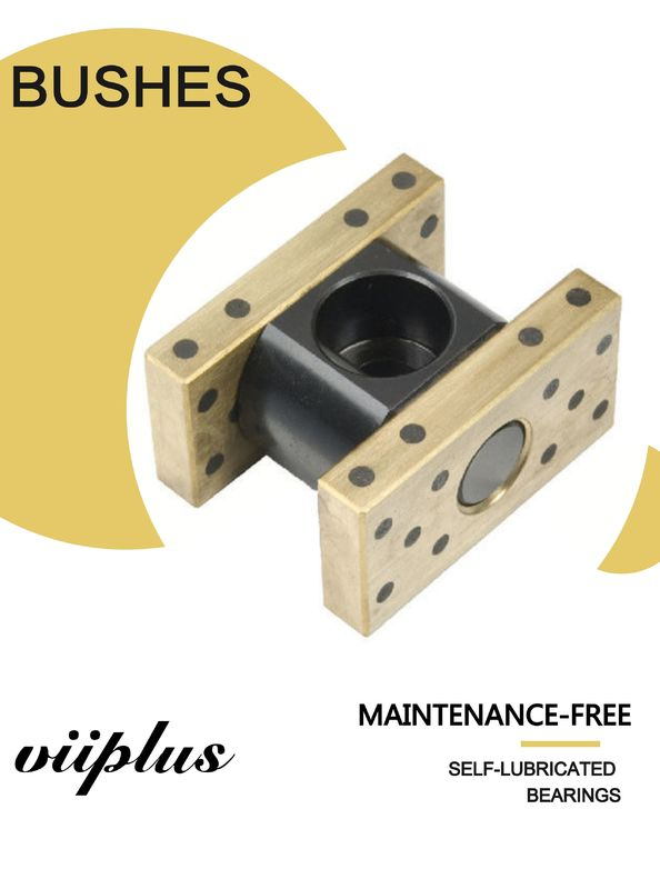 Robotics Bronze Sleeve Lube Guide Solid Bronze C86300 Graphite Bushing Inch Size sankyo oilless supplier
