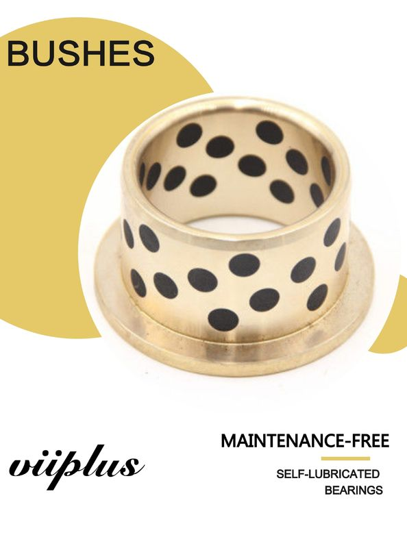 Double Loop Oil Grooved Cast Bronze Bushings Self Lubricating Bearing Corrosion Resistance supplier