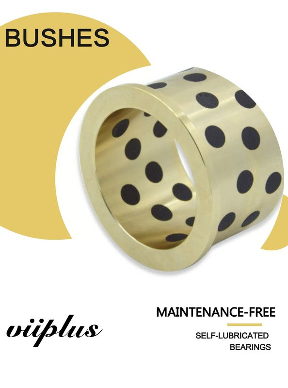 Graphite Inlaid Oiless Gunmetal Solid Lubricant Bearings  Bronze Bushings NORMAL METRIC BUSHING supplier