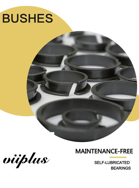 High Performance Plastic Plain Bearings Maintenance Free Dry Operation