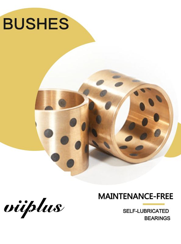 Maintenance Free Graphite Plugged Bronze Bearings Valves Bushing Steel / Copper Composite supplier