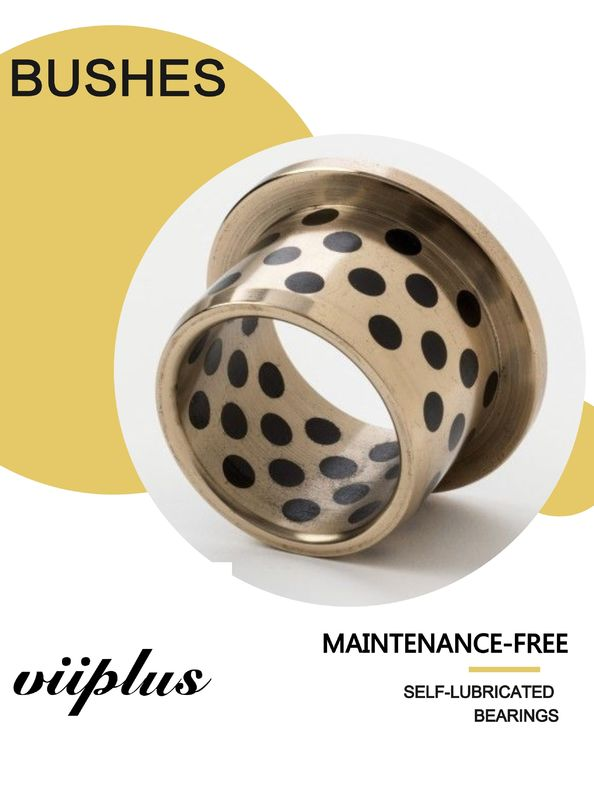 Solid Lubricant Manganese Bronze Sliding Bearings Flanged Plate CuZn25AI5Mn4 C86300 supplier