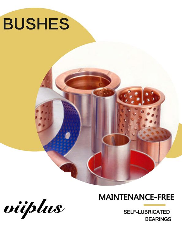 Packaging Food & Beverage Industry Self-Lubricating Bronze Flanged Sleeve Bushes Bearings