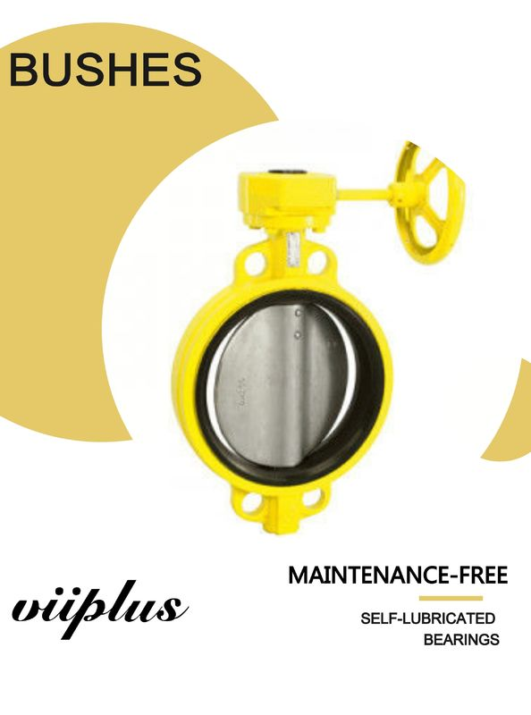 Locking Lever Handle Butterfly Valve Bushing Fiberglass And 316 Stainless Steel With TFE Lining supplier