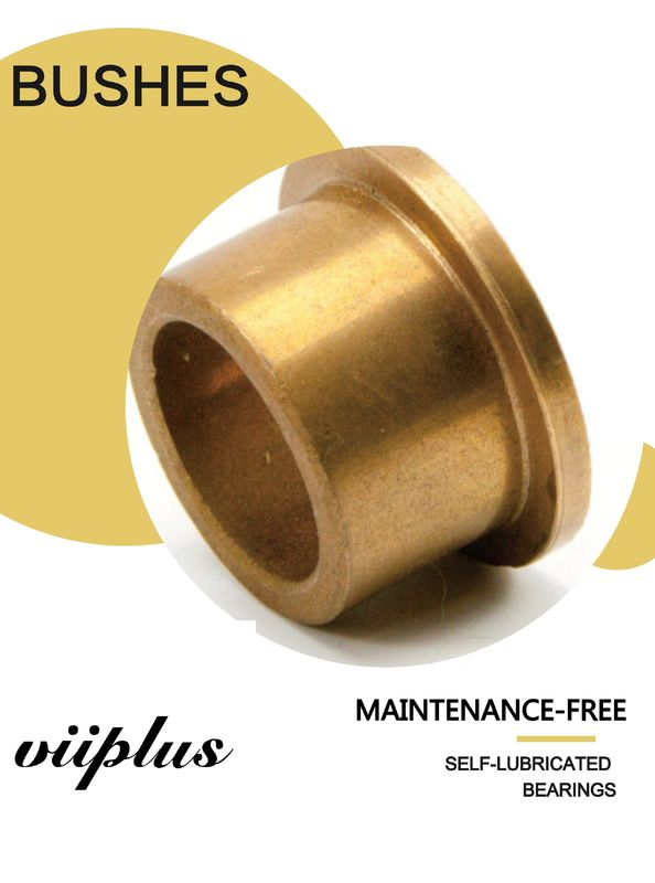 SAE 841 | Excavator Oil Impregnated Bushings , Sintered Bronze Flanged Sleeve Bearings supplier