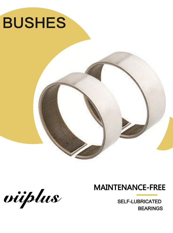 Woven Glide Bushing Sliding Bearings Bore Size | Coiled Stainless Steel Fabric Self-Lubricating Bearings Ptfe/Kevlar supplier