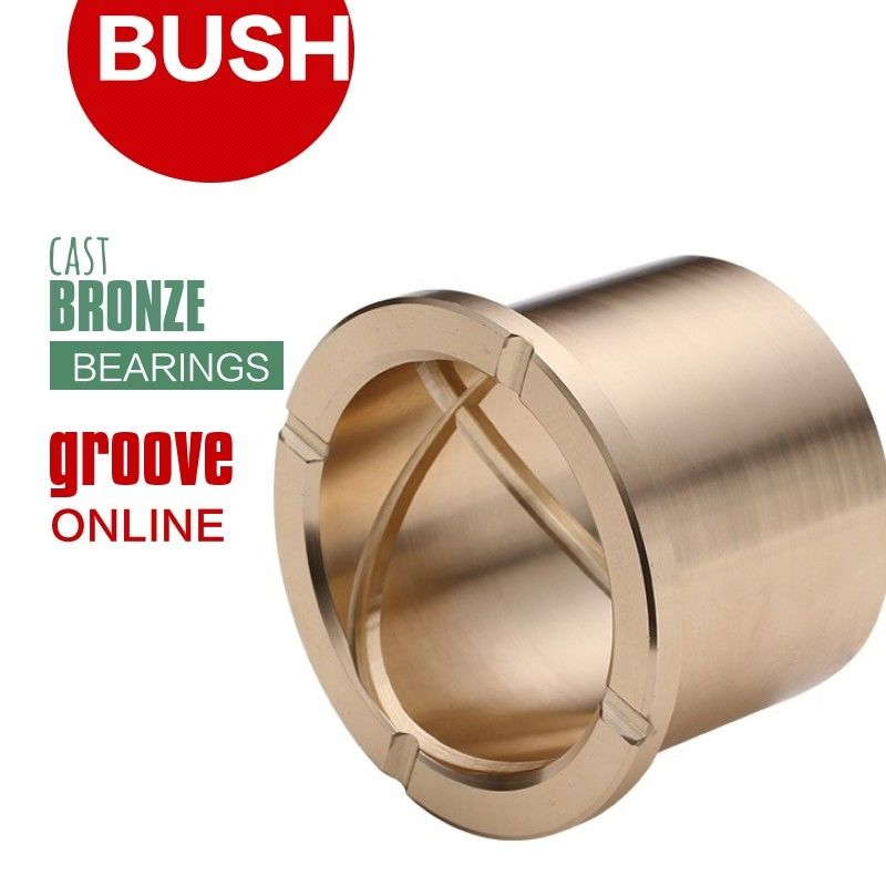 Precision Flanged Groove Cast Bronze Bushings Spiral Inside Groove Bearings supplier
