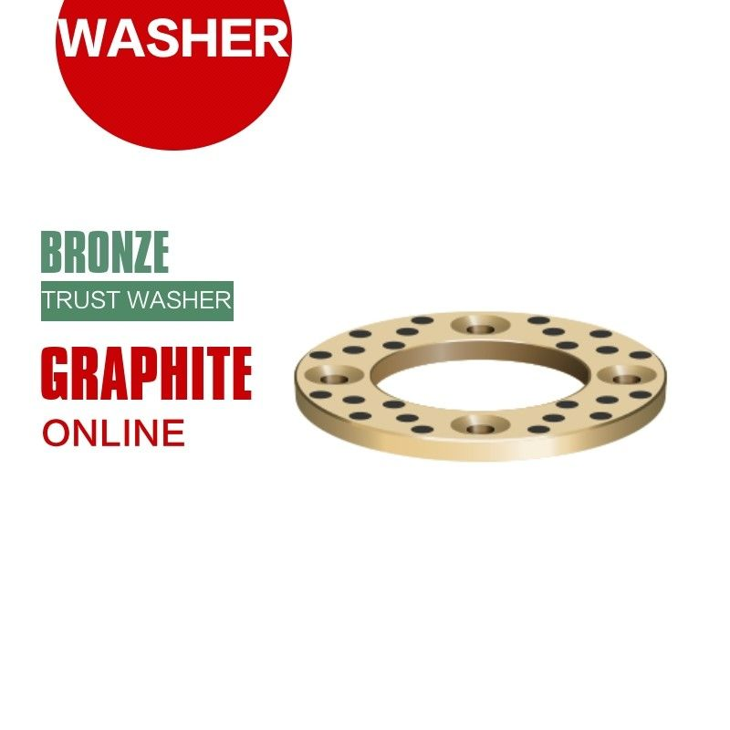 Grooved Bronze Embedded Graphite Shaft Trust Washers & Gasket Long Life supplier