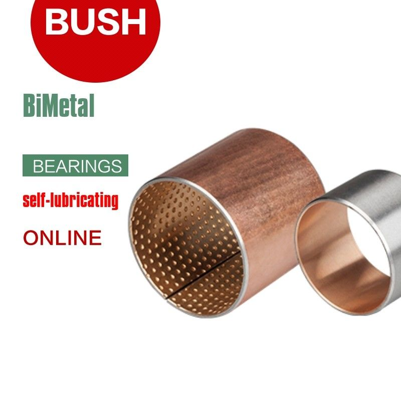 Wrapped composite Bimetal bearing Copper or tin plated steel bronze DIN 1494 / ISO 3547 CuPb10Sn10 CuSn6Zn6P dimensions supplier