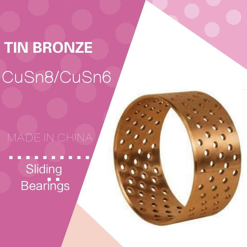 Wrapped Cylindric Metric Standard Spilt Bushing  Tin Bronze CuSn8P Plain Bearing Diamond Shaped Through hole supplier