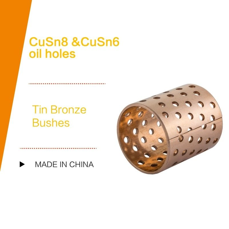 DIN 1494 / ISO 3547 CUSN8P Wrapped Tin Bronze Bushes Sliding Bearing With Perforations Lubrication Pockets supplier